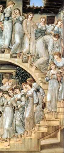 cuadros-de-retrato - Cuadro -The Golden Stairs- - Burne-Jones, Edward
