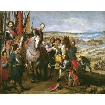 cuadros de retrato - Cuadro -La rendicion de Juliers- - Leonardo, Jusepe
