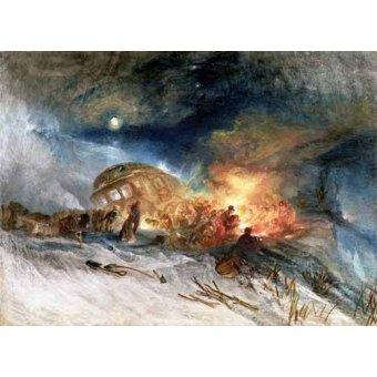 - Cuadro -Travellers in a Snowdrift- - Turner, Joseph M. William