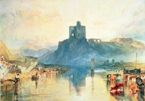 cuadros-de-paisajes - Cuadro -Norham Castle, 1824- - Turner, Joseph M. William