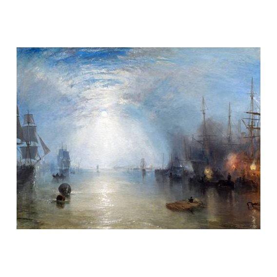 cuadros de marinas - Cuadro -Keelmen heaving in coals by night-