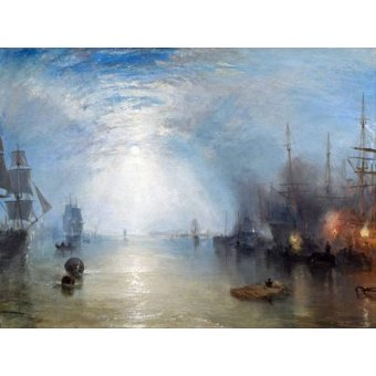 cuadros de marinas - Cuadro -Keelmen heaving in coals by night- - Turner, Joseph M. William
