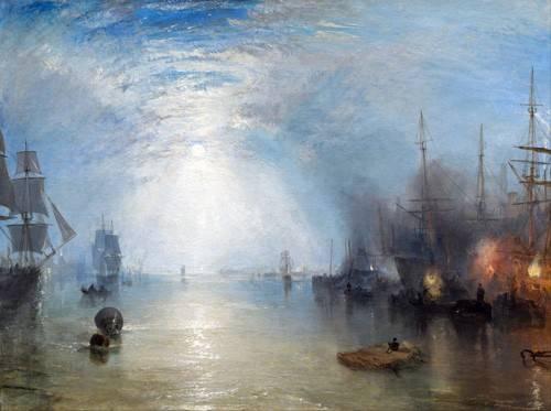cuadros-de-marinas - Cuadro -Keelmen heaving in coals by night- - Turner, Joseph M. William