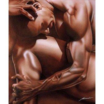 cuadros de desnudos - Cuadro -HOMBRE TORTURADO- - Miranda, Nieves