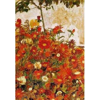- Cuadro -Campo de flores- - Schiele, Egon
