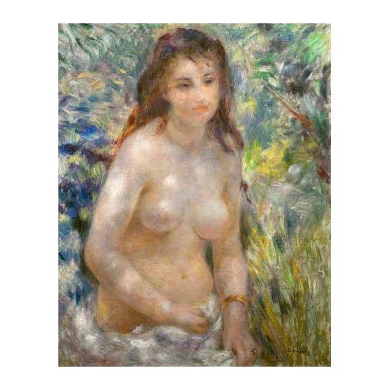 cuadros de desnudos - Cuadro -Etude, torse, effet de soleil-