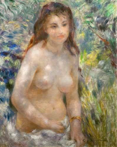 cuadros-de-desnudos - Cuadro -Etude, torse, effet de soleil- - Renoir, Pierre Auguste