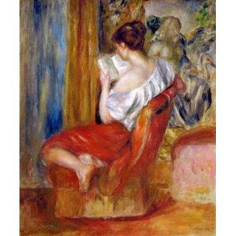 - Cuadro -Mujer leyendo- - Renoir, Pierre Auguste