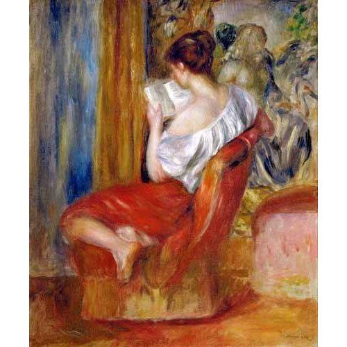 cuadros de retrato - Cuadro -Mujer leyendo-