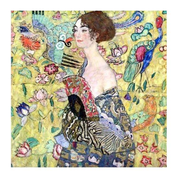 cuadros de retrato - Cuadro -Mujer con abanico, 1918-