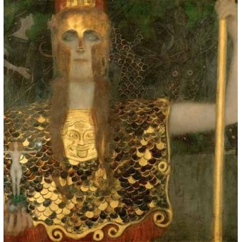 cuadros de retrato - Cuadro -Palas Atenea- - Klimt, Gustav