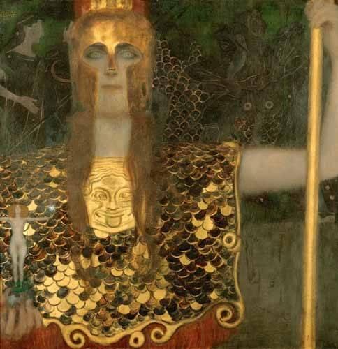 cuadros-de-retrato - Cuadro -Palas Atenea- - Klimt, Gustav