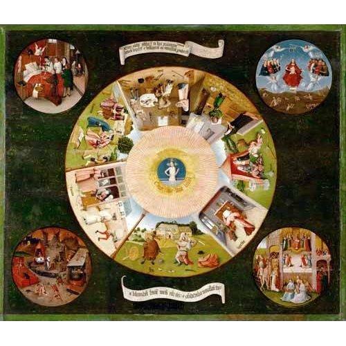 cuadros religiosos - Cuadro -Mesa de los pecados capitales, 1485-