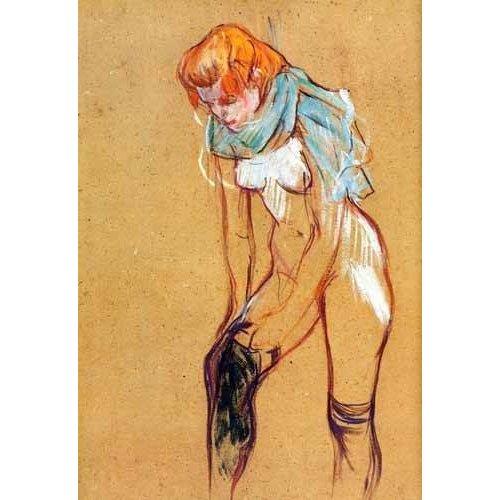 cuadros decorativos - Cuadro -Mujer quitándose las medias-