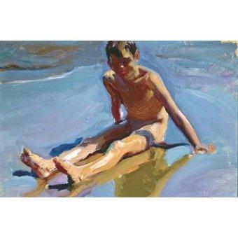 Cuadro -Niño en la playa-