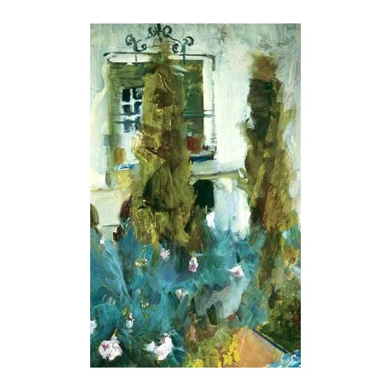 cuadros de paisajes - Cuadro -Jardin de la casa del artista (IX)-