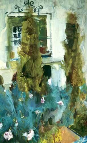 cuadros-de-paisajes - Cuadro -Jardin de la casa del artista (IX)- - Sorolla, Joaquin