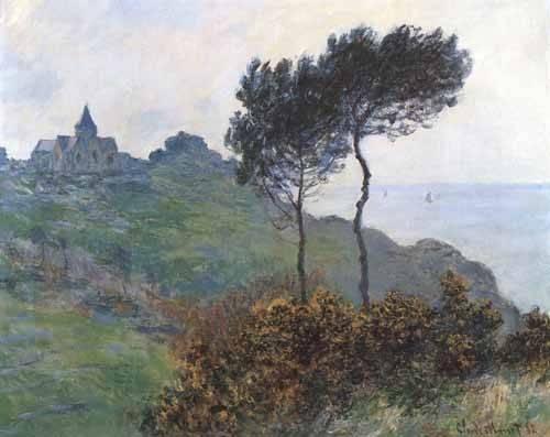 cuadros-de-paisajes - Cuadro -Paisaje en Varengeville- - Monet, Claude