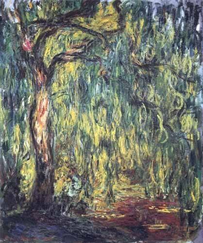 cuadros-de-paisajes - Cuadro -Paisaje, Trauerweide- - Monet, Claude