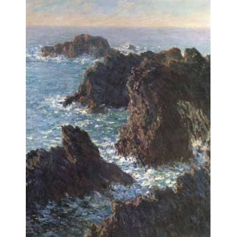 cuadros de marinas - Cuadro -Cliffs at Belle-Île- - Monet, Claude