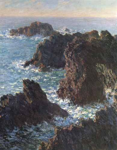 cuadros-de-marinas - Cuadro -Cliffs at Belle-Île- - Monet, Claude