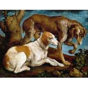 Cuadro -Dos perros de caza-