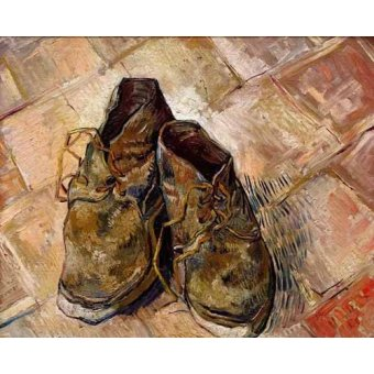 cuadros de bodegones - Cuadro -Los zapatos de Van Gogh- - Van Gogh, Vincent