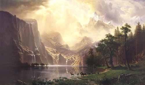 cuadros-de-paisajes - Cuadro -Sierra-Nevada- - Bierstadt, Albert