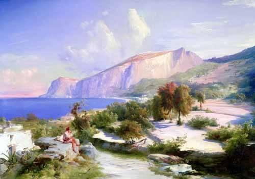 cuadros-de-paisajes - Cuadro -Marina grande, Capri- - Blechen, Karl