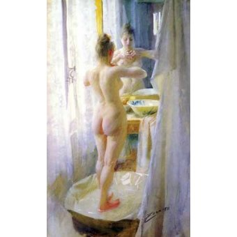 cuadros de desnudos - Cuadro -Mujer en la tina- - Zorn, Anders