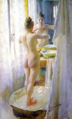 cuadros-decorativos - Cuadro -Mujer en la tina- - Zorn, Anders