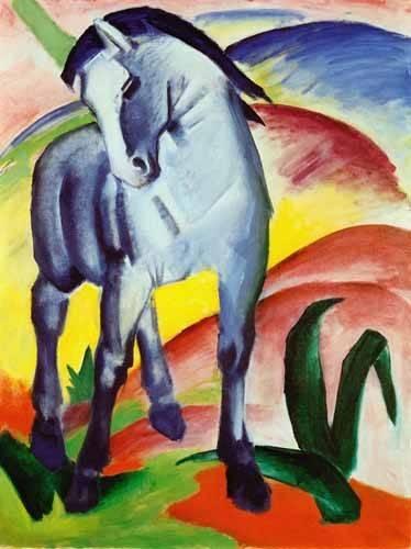 cuadros-infantiles - Cuadro -Caballo azul- - Marc, Franz