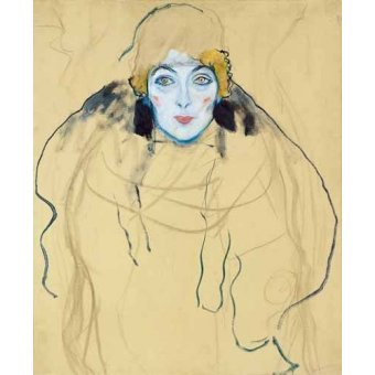cuadros de retrato - Cuadro -Head of a Woman- - Klimt, Gustav