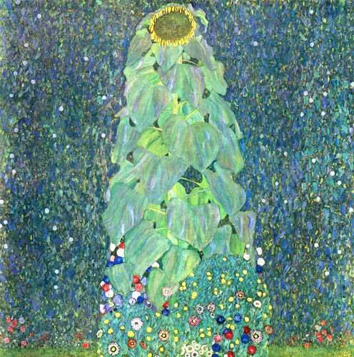 cuadros-de-flores - Cuadro -El Girasol- - Klimt, Gustav