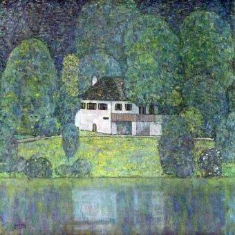 - Cuadro -Litzlbergerkeller am Attersee- - Klimt, Gustav
