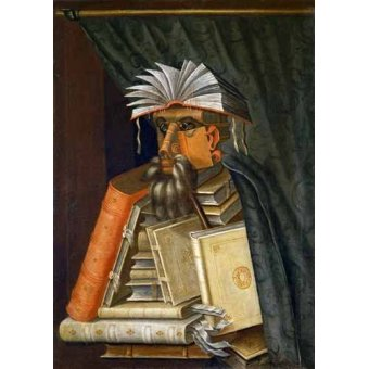 cuadros de bodegones - Cuadro -El Bibliotecario- - Arcimboldo, Giuseppe