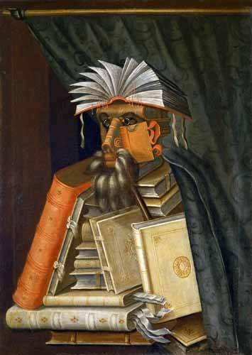 cuadros-de-bodegones - Cuadro -El Bibliotecario- - Arcimboldo, Giuseppe