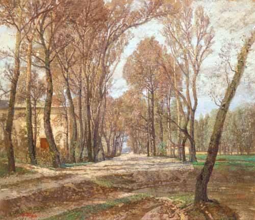 cuadros-de-paisajes - Cuadro -Prater 1907- - Blau-Lang, Tina