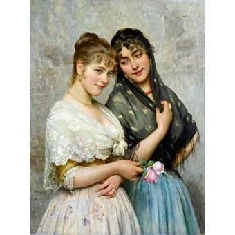 - Cuadro -Mujeres venecianas- - Blaas, Eugen Von