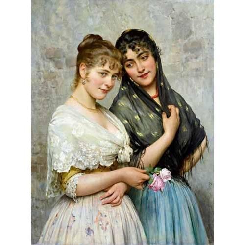 cuadros de retrato - Cuadro -Mujeres venecianas-
