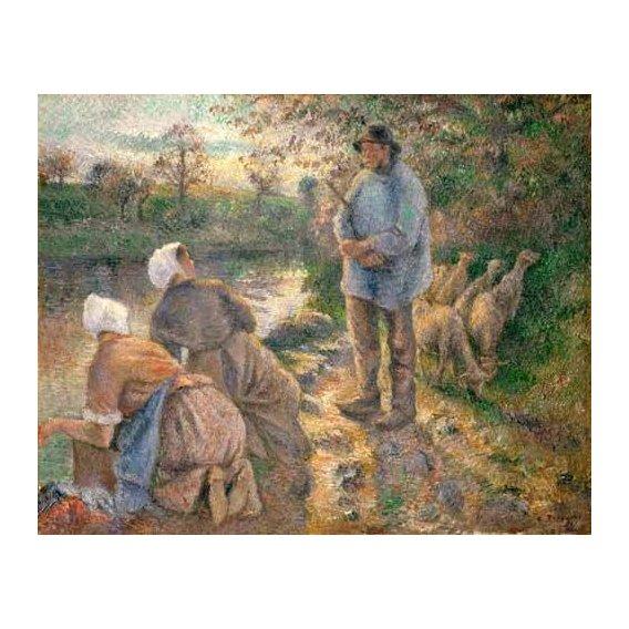 cuadros de retrato - Cuadro -Le Berger et les Laveuses, 1881-