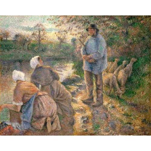 Cuadro -Le Berger et les Laveuses, 1881-