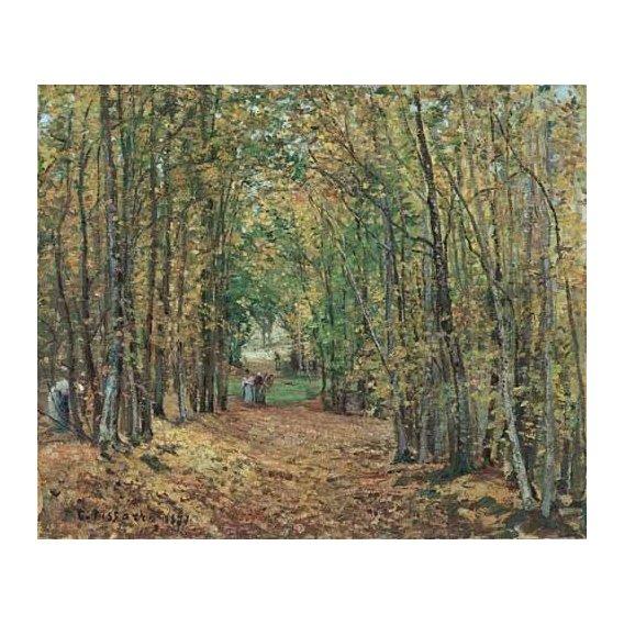 cuadros de paisajes - Cuadro -Paisaje en el bosque, 1871-