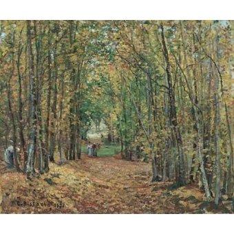 Cuadro -Paisaje en el bosque, 1871-