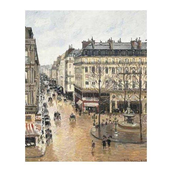 cuadros de paisajes - Cuadro -Rue Saint Honoré aprés-midi (1897), efecto lluvia-