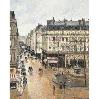 - Cuadro -Rue Saint Honoré aprés-midi (1897), efecto lluvia- - Pissarro, Camille