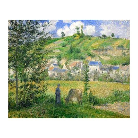 cuadros de paisajes - Cuadro -Paysage a Chaponvalle, 1880-
