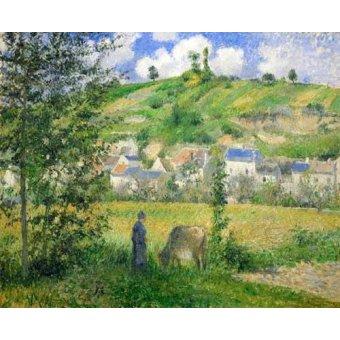 - Cuadro -Paysage a Chaponvalle, 1880- - Pissarro, Camille