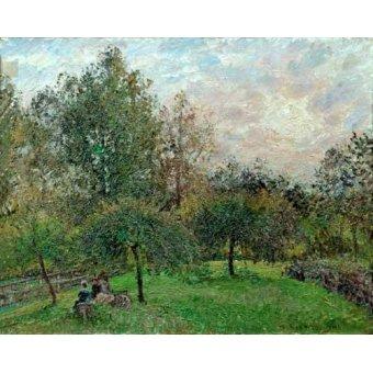 - Cuadro -Pommiers et peupliers au soleil couchant, 1901- - Pissarro, Camille