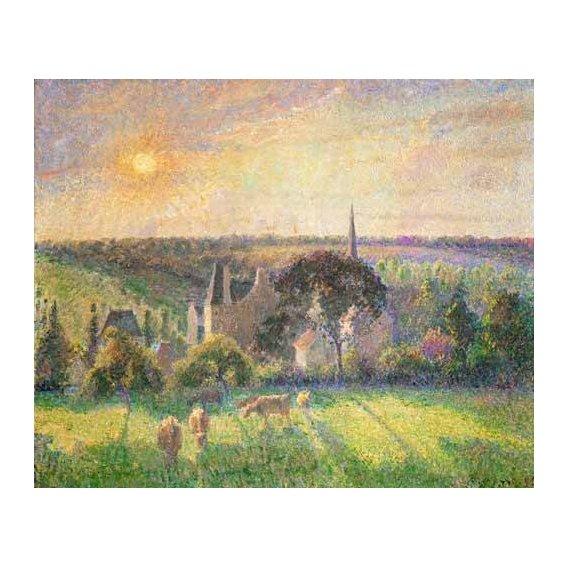 cuadros de paisajes - Cuadro -Landscape at Eragny, France (1895)-
